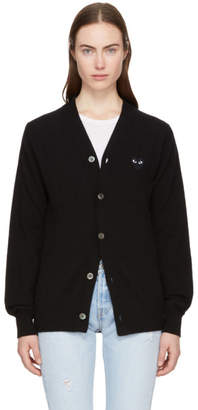 Comme des Garcons Black Mens Fit Heart Patch V-Neck Cardigan