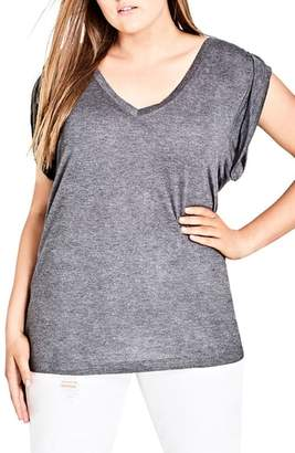 City Chic V-Neck Tee