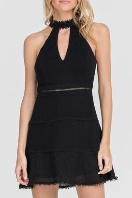 Lush Clothing High-Neck Mini Dress
