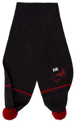 Armani Junior Boys' Wool Pom-Pom Scarf