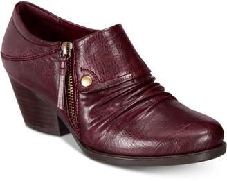 Bare Traps Rafaella Block-Heel Zip Ankle Booties Women's Shoes