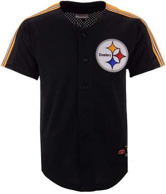 Mitchell & Ness Men Pittsburgh Steelers Winning Team Mesh Button Front Jersey