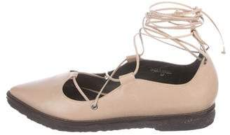 Tibi Nell Lace-Up Flats