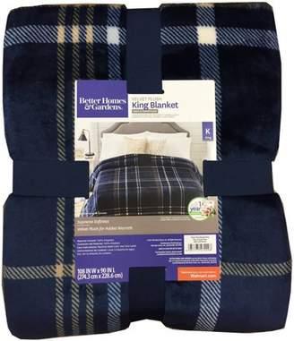 Better Homes & Gardens Better Homes and Gardens Velvet Plush Blanket Indigo