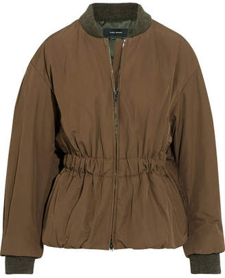 Isabel Marant - Dex Shell Bomber Jacket - Army green $820 thestylecure.com