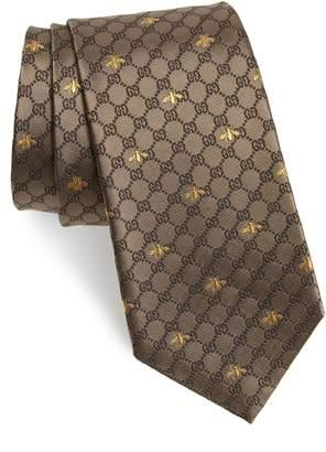 Gucci GG Bee Silk Tie
