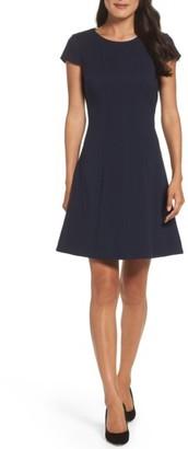 Women's Eliza J Crepe Fit & Flare Dress $138 thestylecure.com