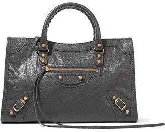 Balenciaga - Classic City Small Textured-leather Tote - Dark gray $1,795 thestylecure.com