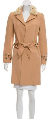 J. Mendel Fur-Lined Embellished Coat