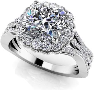 PEACOCK JEWELS 14k Gold Vintage Cushion Cut Engagement Wedding Ring Size - 4.75