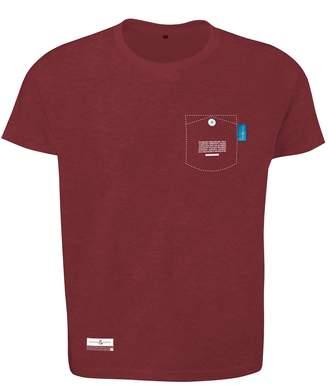 ANCHOR & CREW - Fire Brick Red Travel Print Organic Cotton T-Shirt