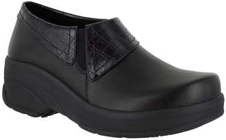 EASY WORKS BY EASY STREET Easy Works By Easy Street Womens Assist Clogs Elastic Round Toe
