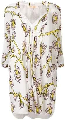 Diane von Furstenberg dragon berry ruched dress