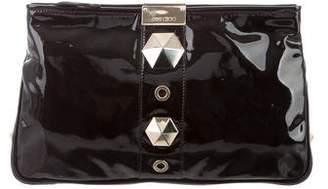 Jimmy Choo Studed Patent Clutch