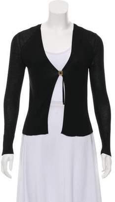 Gucci Rib Knit Silk Cardigan