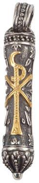 Konstantino Men's Stavros Pendant with 18k Gold Trim