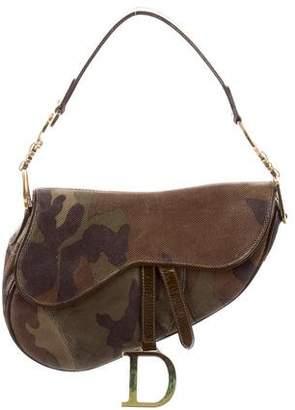 Christian Dior Camo Saddle Bag