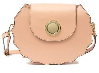 Persaman New York Daria Leather Scalloped Shoulder Bag