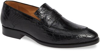 Mezlan Bixby Genuine Crocodile Penny Loafer