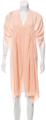 Tome Silk Draped Dress