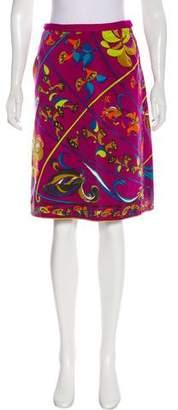 Emilio Pucci Vintage Velvet Skirt