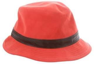 Hermes Leather-Trimmed Bucket Hat