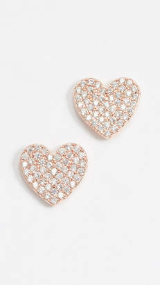 Kate Spade Pave Heart Studs