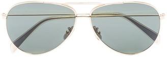 Celine gold-tone aviator sunglasses