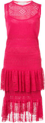 Carolina Herrera Pointella stitch knit sleeveless dress