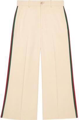 Gucci Viscose culotte pant with Web