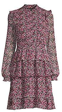 MICHAEL Michael Kors Women's Garden Print Ruffle Dress