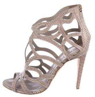 Christian Dior Embossed Caged Sandals
