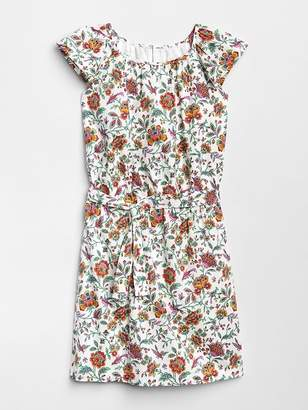 Gap Floral Tie-Belt Dress