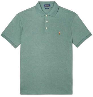 Polo Ralph Lauren Slim-Fit Mélange Pima Cotton-Jersey Polo Shirt