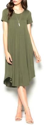 7th Ray Olive Midi Dress