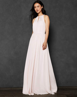 Ted Baker TALAYEH Embellished neckline maxi dress