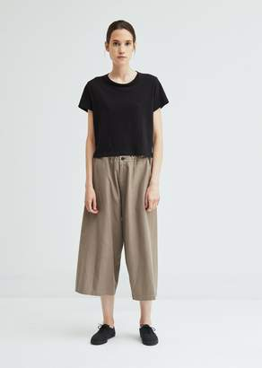 Y's Back Draped Wide Cotton Pant