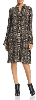 Lafayette 148 New York Sansa Printed Silk Shirt Dress