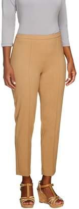 Susan Graver Petite Chelsea Stretch Side Zip Ankle Pant