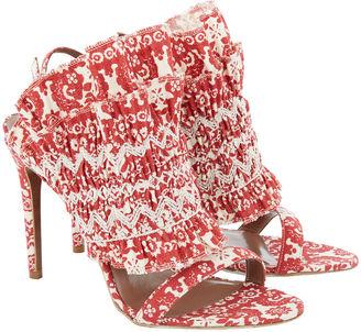 Tabitha Simmons Red Flouncy Frill Stiletto Heels
