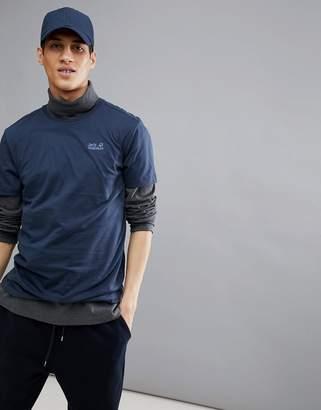 Jack Wolfskin Essential T-Shirt In Navy
