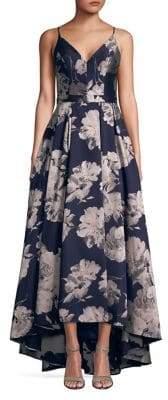Xscape Evenings Floral Brocade Hi-Lo Gown