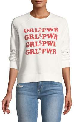 Rebecca Minkoff GRL PWR Long-Sleeve Graphic-Print Crewneck Sweatshirt