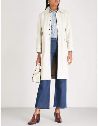 ALEXACHUNG PVC chesterfield coat