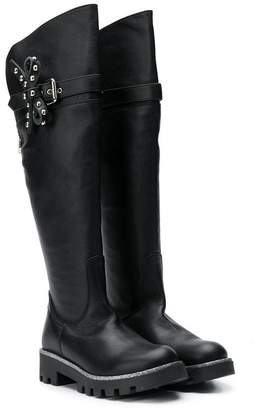 Ermanno Scervino TEEN studded bow boots
