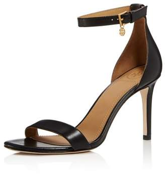 Tory Burch Women's Ellie Leather High-Heel Ankle Strap Sandals