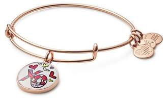Alex and Ani Romero Britto Art Infusion XO Wire Charm Bracelet