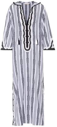 Tory Burch Corbin striped cotton kaftan