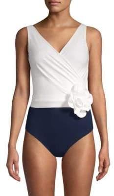 Chiara Boni Nani Flower One-Piece Swimsuit