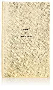 "Smythson Make It Happen"" Panama Notebook - Gold"